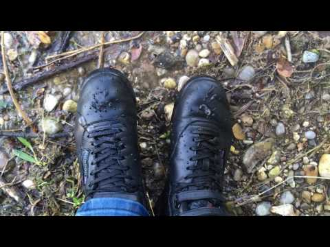 Black Reebok Freestyle hi wet in lake