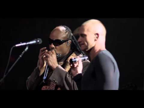 """Download Sting and Stevie Wonder - """"Fragile"""" from Sting's 60th birthday concert Mp4 baru"""