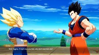 Dragon Ball FighterZ - Vegeta tells Gohan he has become soft @ 1080p (60ᶠᵖˢ) HD ✔