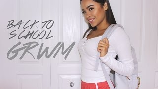 MAKEUP, HAIR & OUTFIT: GRWM FIRST DAY BACK TO SCHOOL! | Maria Bethany