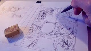 Sketching Manga Page Draft