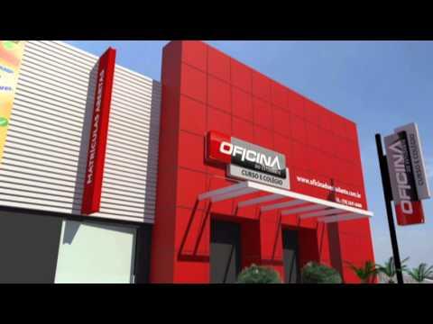 Oficina do estudante projeto arquitetonico de fachada for Fachadas modernas para oficinas