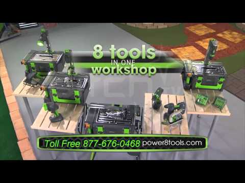 Power8 Workshop The Worlds Only Complete Cordless and Portable Workshop of It's Kind
