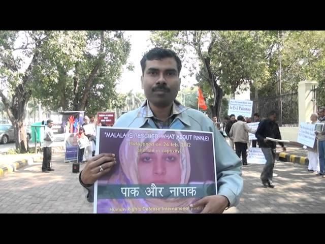 HRDI demonstration in support of Rinkle Kumari of Pakistan Part-26