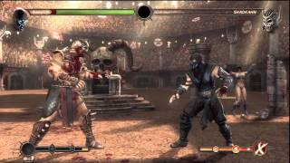 Mortal Kombat 9 HD  Sub Zero vs Expert Ladder Shao