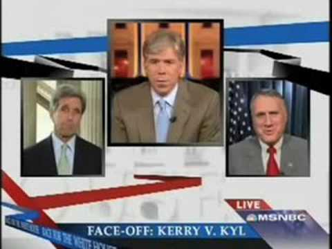 John Kerry asks Jon Kyl to explain McCain's 'celebrity ad.'