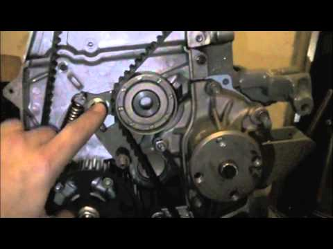 Isuzu  Timing belt installation