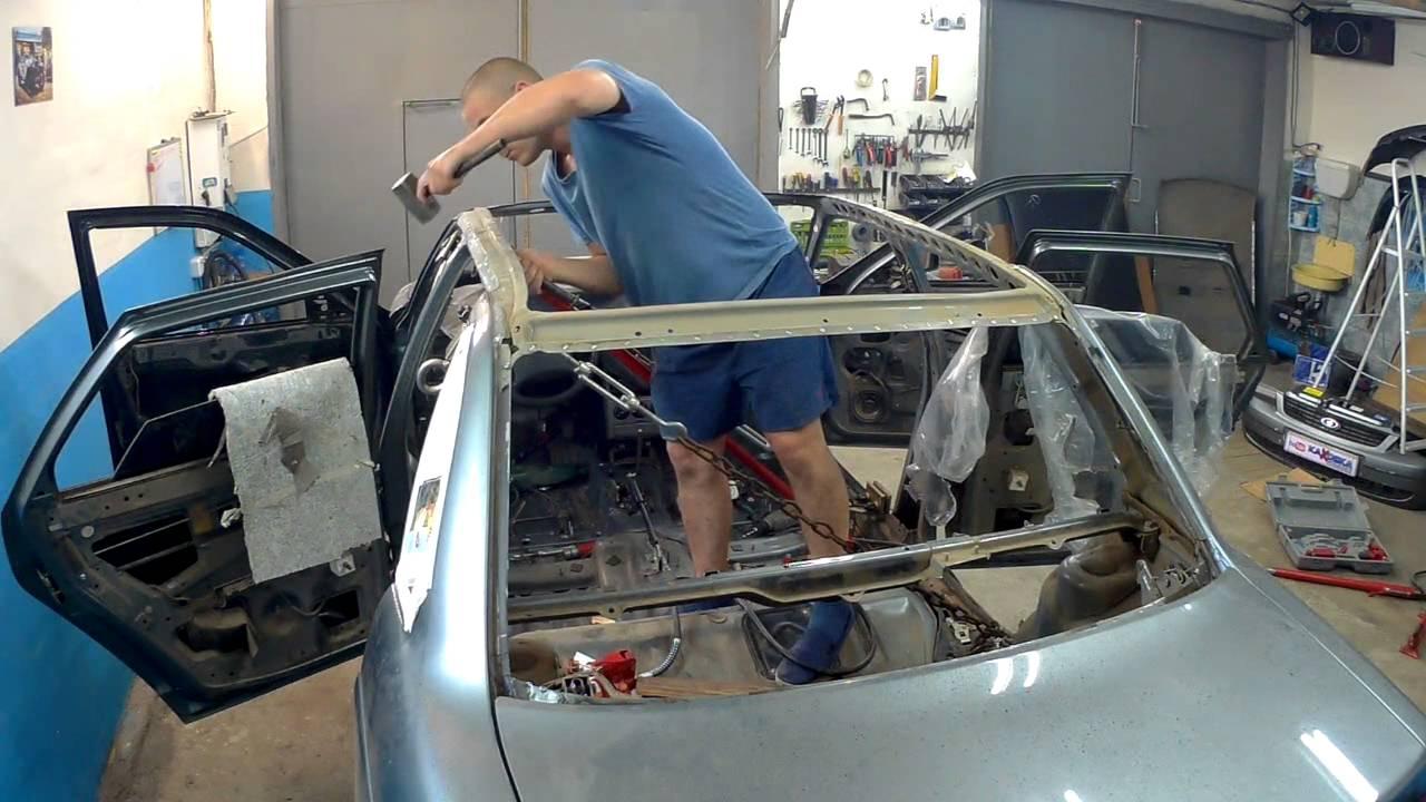Как в домашних условиях вытянуть крышу автомобиля