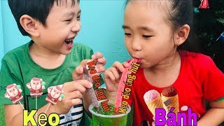 Stin Dâu Thưởng Thức Kẹo Dẻo Ống Hút &  Kẹo Dẻo Ông Già Noel (^_^) Bánh Kẹo Giáng Sinh.