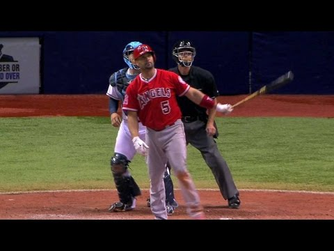 LAA@TB: Pujols passes Mantle with 537th home run