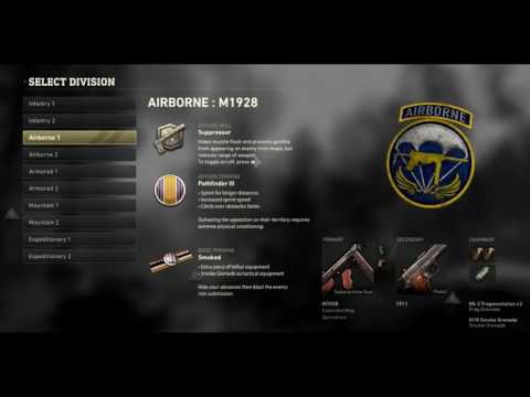 Call of Duty WW2 NEW CLASS SETUP System - Divisions, Skills & Basic Training WWII Multiplayer Info