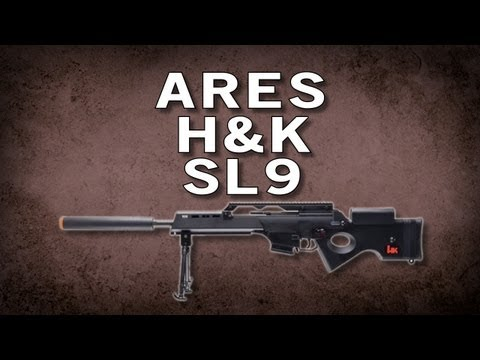 Airsoft GI - Ares H&K SL9 Electric Blow Back Sniper Rifle by Umarex - Range Test vs G36CV
