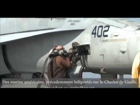 NAVY -  US F/A-18 Pilots Train On French Carrier Charles de Gaulle