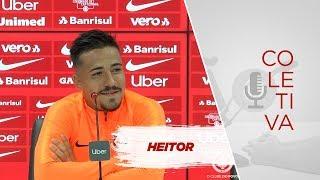 Heitor concede entrevista e fala sobre o primeiro jogo como profissional