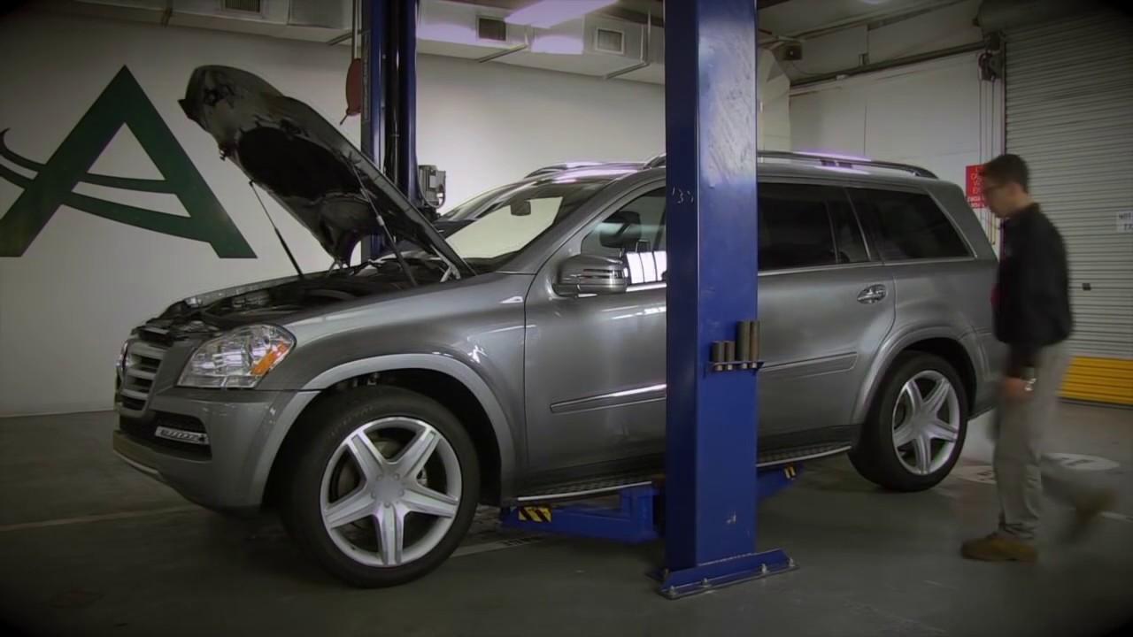 Installling the arnott new rear air spring on mercedes for Mercedes benz suspension repair