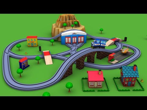 Trains for children - Chu Chu Train - Police Cartoon - train - toy factory - Cartoon for kids