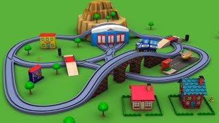 Trains for children - Chu Chu Train - Police Cartoon - train - toy factory - Cartoon for kids