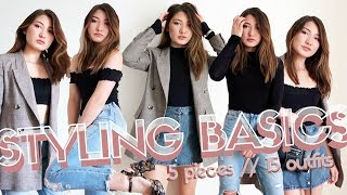 STYLING BASICS // 5 PIECES ⇨ 15 OUTFITS