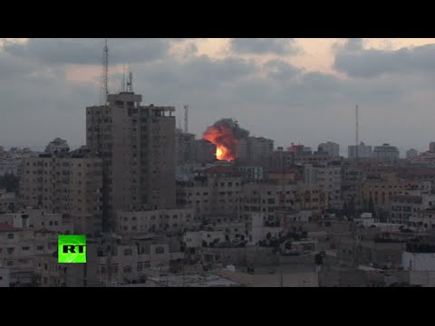 Moment Israeli airstrike destroys 13-storey residential tower in Gaza City