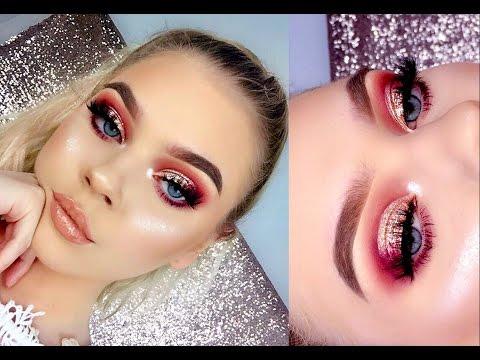 ROSE GOLD Glitter Makeup Tutorial | Tina Halada