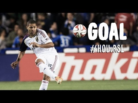 GOAL: Alvaro Saborio heads a cross into the back of the net | Houston Dynamo vs Real Salt Lake