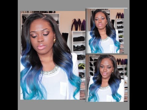DIY: Turquoise/Blue Ombre Hair Color - YouTube