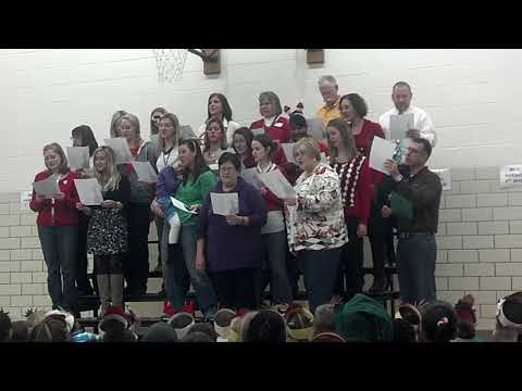 Allison staff Christmas sing 2013