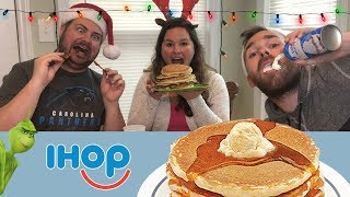 Mukbang | IHOP Holiday Pancakes Eating Show