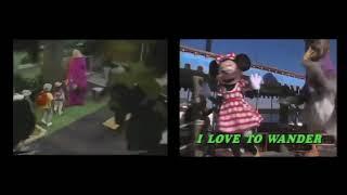 Barney & Mickey Mashup: Happy Wanderer (2B)
