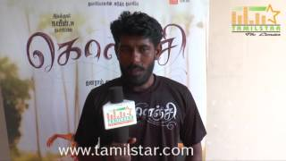 Dhanaram Saravanan At Kolanji Movie Team Interview