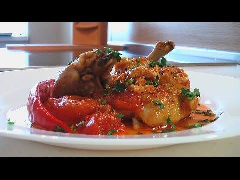 Чахохбили из кур видео рецепт (Chakhokhbili with chicken) english subtitle.. Очень вкусно!