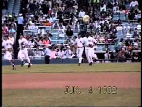 June 4, 1992 New York Yankees host Detroit Tigers. Here are a few vignettes. Frank Tanana got the win (6-2). Lou Whitaker and Mickey Tettleton hit homers. Amy and Megan Peterson got Sparky...