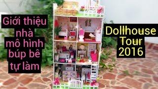 Dollhouse tour 2016 / Căn nhà búp bê Phòng ngủ, phòng khách, phòng tắm, sân thượng / Ami DIY