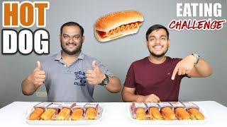 VEG HOT DOG EATING CHALLENGE | Hot Dog Eating Competition | Food Challenge
