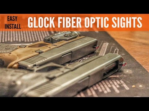 GLOCK MODS! WARREN TACTICAL DAVE SEVIGNY FIBEROPTIC SIGHTS INSTALL