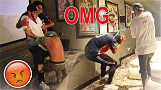 WAKING UP FaZe Banks WITH WATER GUNS.. (CRAZY RAGE)