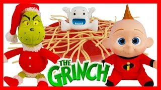 The Grinch Movie Yeti in My Spaghetti Challenge Versus Incredibles Baby Jack Jack