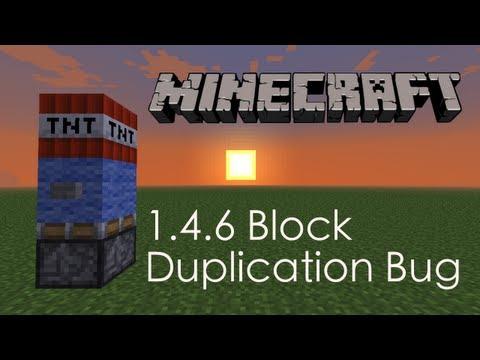 Minecraft 1.4.6 Weird Block Duplication