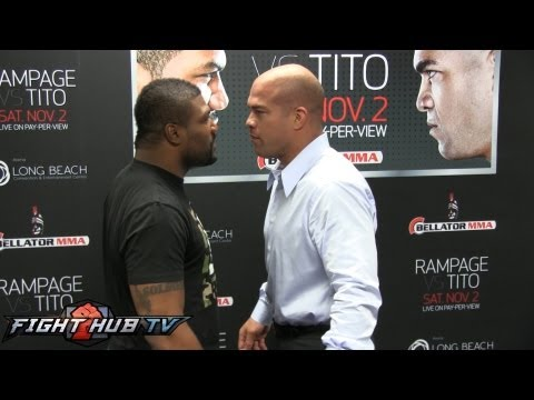 Rampage vs. Tito: Full Face Off between Quinton Rampage Jackson & Tito Ortiz Image 1