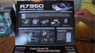 MSI Twin FrozR 7950 3gb video card unboxing