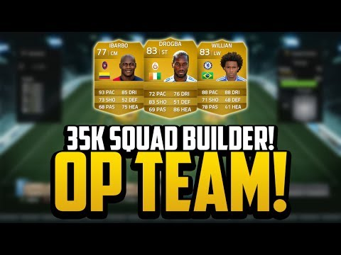 35K OVERPOWERED SQUAD BUILDER! w/ DROGBA! | FIFA 14 Ultimate Team
