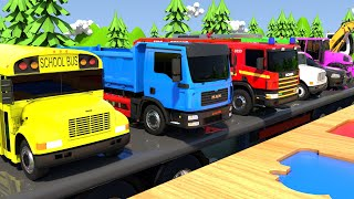 Colors for Children to Learn with Street Vehicles. Colorful CARS for KIDS