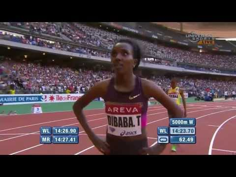 Tirunesh Dibaba crushes 5000m in Paris - Universal Sports