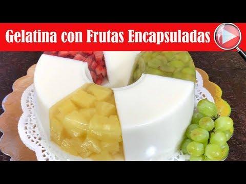 Gelatina de Coco con Frutas Encapsulada - Recetas en Casayfamiliatv