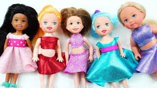👚👗👕DIY   Barbie's Chelsea Doll no glue, no sew Clothes - simplekidscrafts