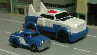 đồ chơi ô tô hoạt hình xe cảnh sát Transformers Police Car Toys 트랜스포머 경찰차 장난감