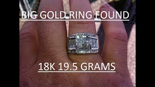 BIG GOLD RING FOUND METAL DETECTING CALIFORNIA BEACH