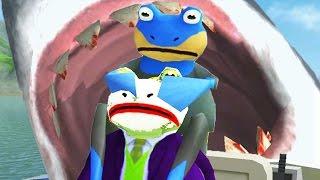 ULTIMATE FROG BLIMP GIANT SHARK BATTLE - Amazing Frog - Part 64 | Pungence