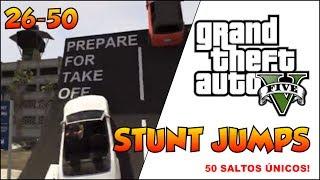 GTA V - DICAS - #2 - 50 STUNT JUMP - 50 SALTOS ÚNICOS NO GTA 5