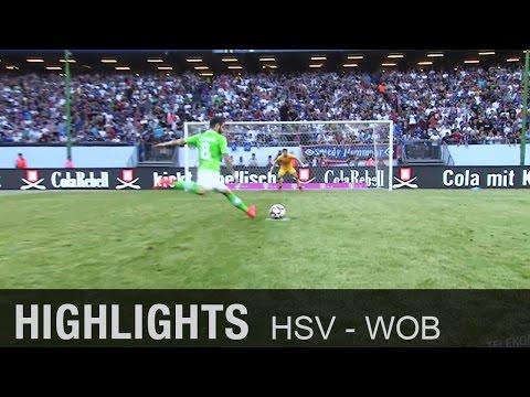 Elfer-Krimi! Wölfe schlagen van der Vaart & Co.   Hamburger SV - Wolfsburg 5:6 n.E.   Telekom Cup